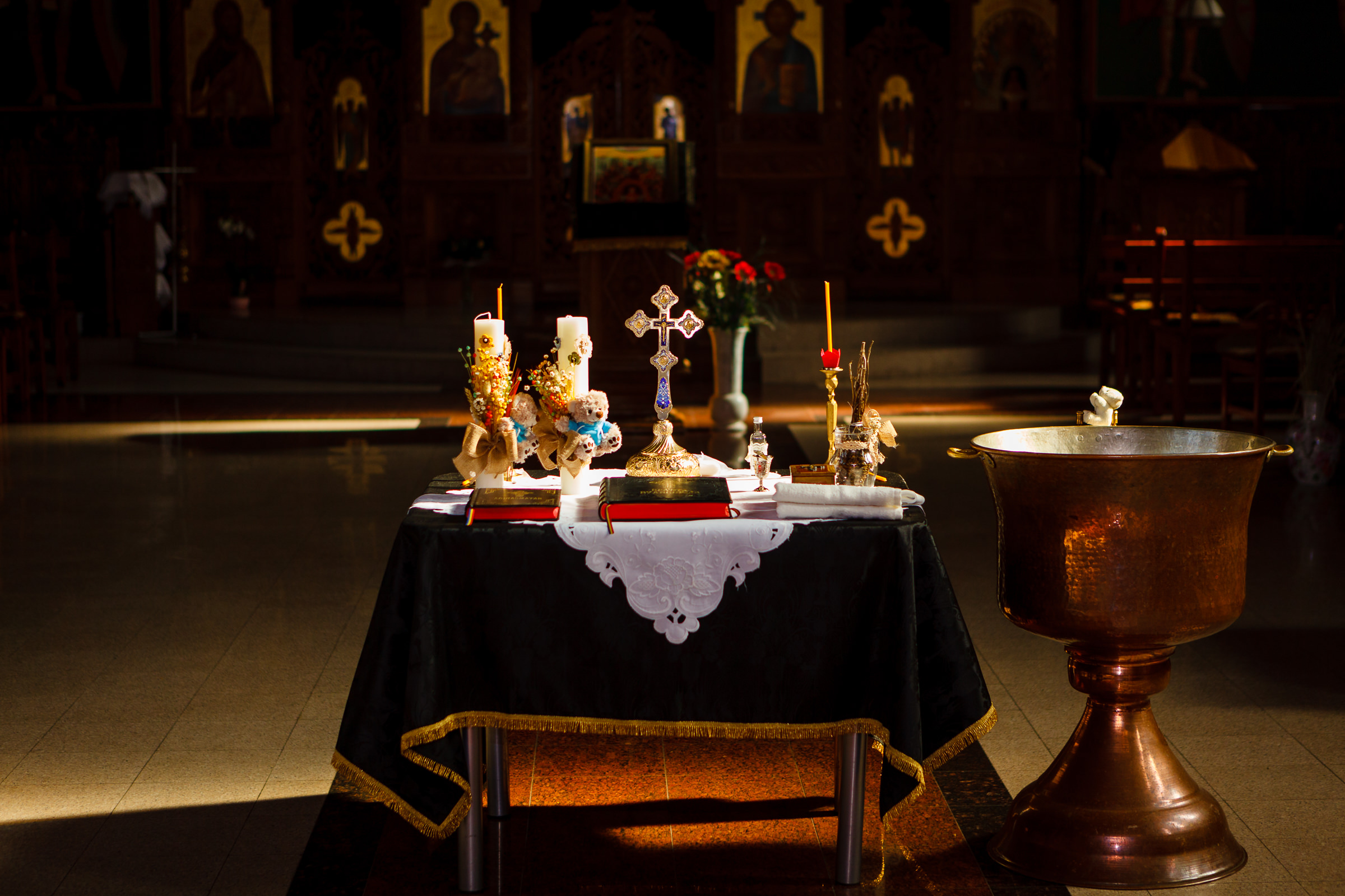 fotografii botez biserica